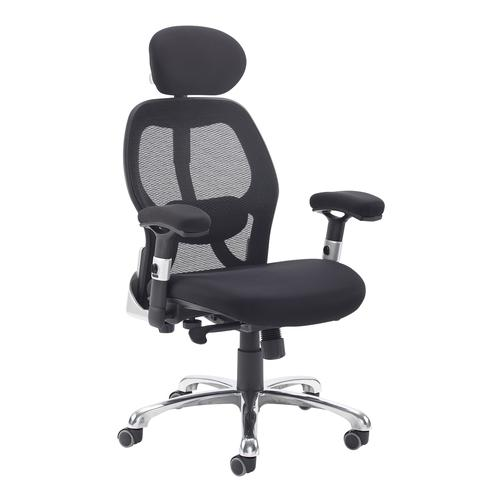 Sandro mesh back executive chair with black air mesh seat and head rest