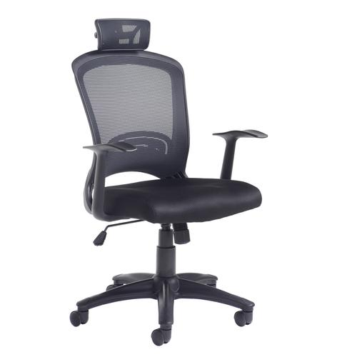 Solaris mesh back operator chair - black