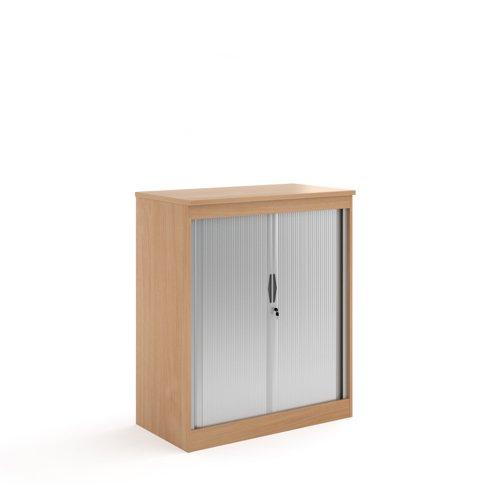 Systems horizontal tambour door cupboard 1200mm high - beech