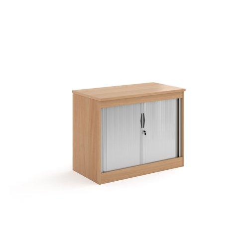Systems horizontal tambour door cupboard 800mm high - beech