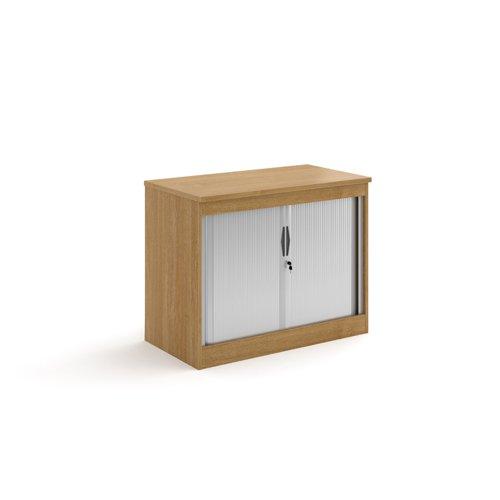 Systems horizontal tambour door cupboard 800mm high - oak