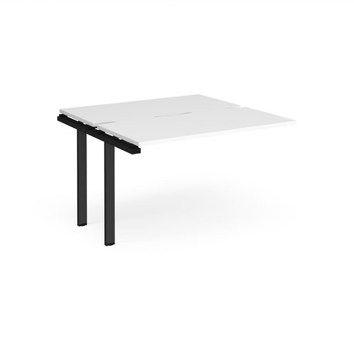 Adapt sliding top add on unit single 1200mm x 1200mm - black frame and white top