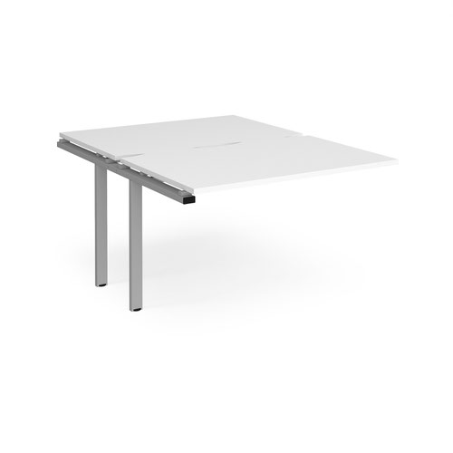 Adapt sliding top add on units 1200mm x 1600mm - silver frame and white top