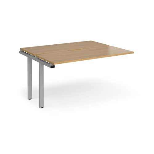 Adapt sliding top add on units 1400mm x 1200mm - silver frame and oak top