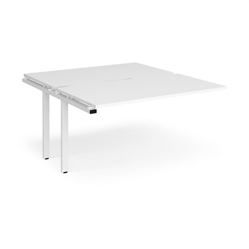 Adapt sliding top add on units 1400mm x 1600mm - white frame and white top