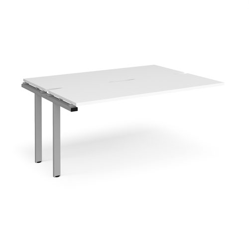 Adapt sliding top add on units 1600mm x 1200mm - silver frame and white top