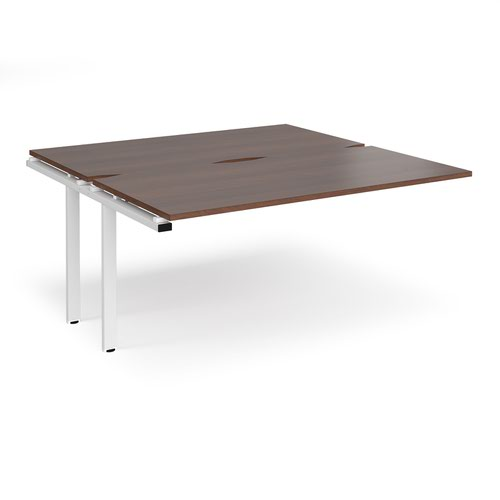Adapt sliding top add on units 1600mm x 1600mm - white frame and walnut top
