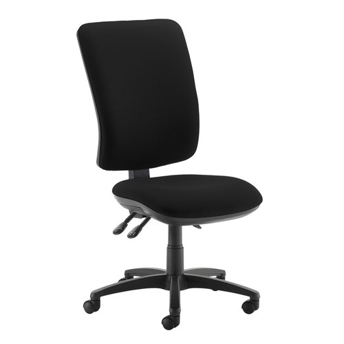 Senza extra high back operator chair with no arms - Havana Black
