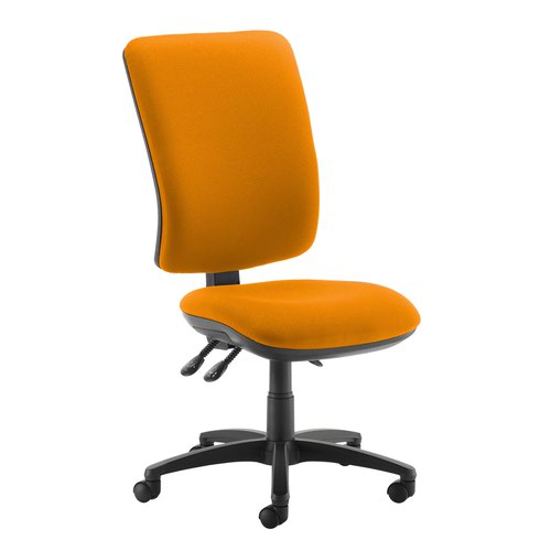 Senza extra high back operator chair with no arms - Solano Yellow