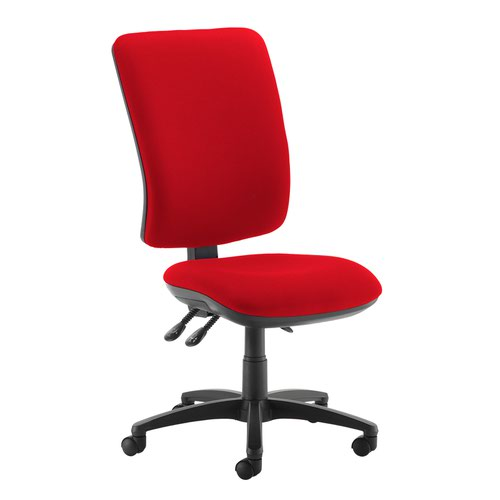 Senza extra high back operator chair with no arms - Panama Red
