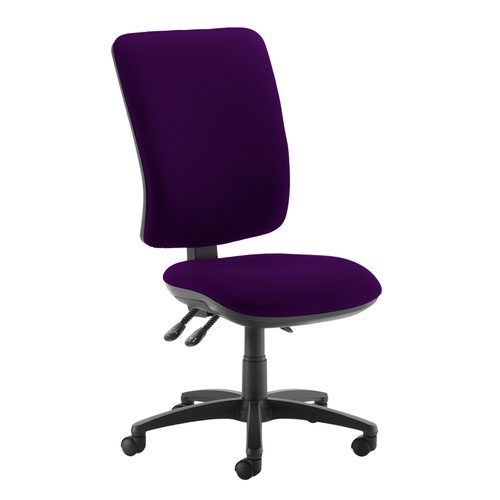 Senza extra high back operator chair with no arms - Tarot Purple