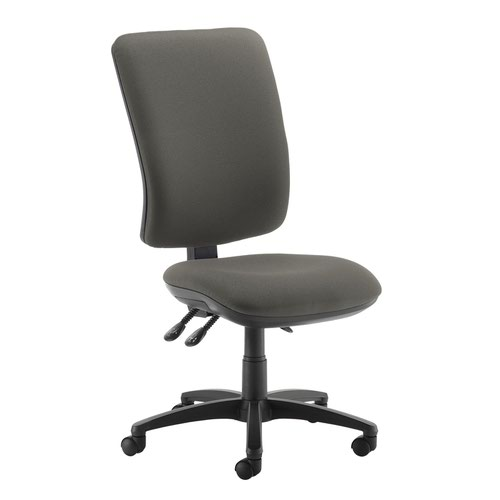 Senza extra high back operator chair with no arms - Slip Grey