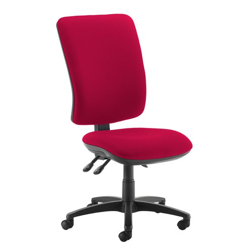 Senza extra high back operator chair with no arms - Diablo Pink