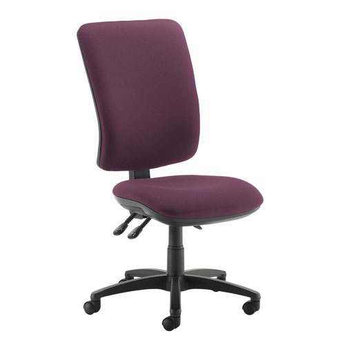 Senza extra high back operator chair with no arms - Bridgetown Purple