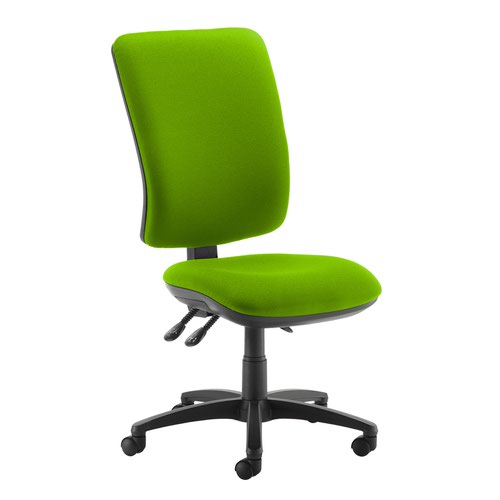 Senza extra high back operator chair with no arms - Madura Green