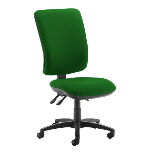 Senza extra high back operator chair with no arms - Lombok Green