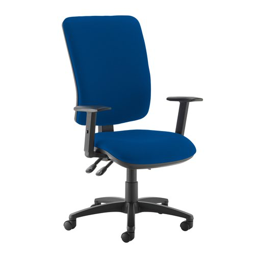 Senza extra high back operator chair with adjustable arms - Curacao Blue