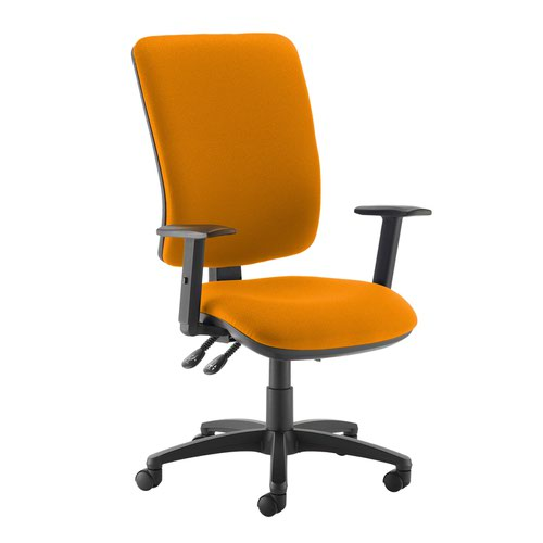 Senza extra high back operator chair with adjustable arms - Solano Yellow