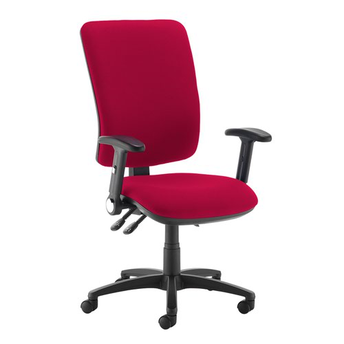 Senza extra high back operator chair with folding arms - Diablo Pink