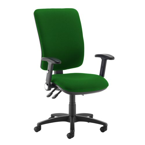 Senza extra high back operator chair with folding arms - Lombok Green