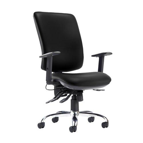 Senza ergo 24hr ergonomic asynchro task chair - Nero Black vinyl