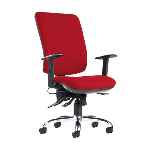 Senza ergo 24hr ergonomic asynchro task chair - Panama Red