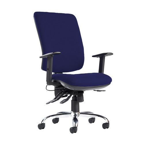 Senza ergo 24hr ergonomic asynchro task chair - Ocean Blue