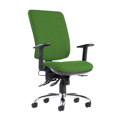 Senza ergo 24hr ergonomic asynchro task chair - Lombok Green