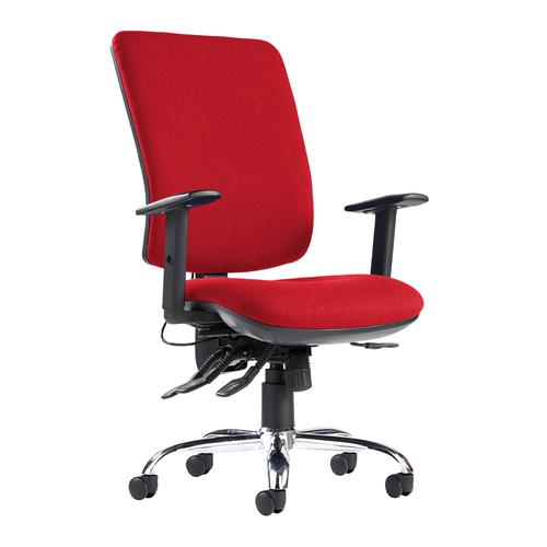 Senza ergo 24hr ergonomic asynchro task chair - red