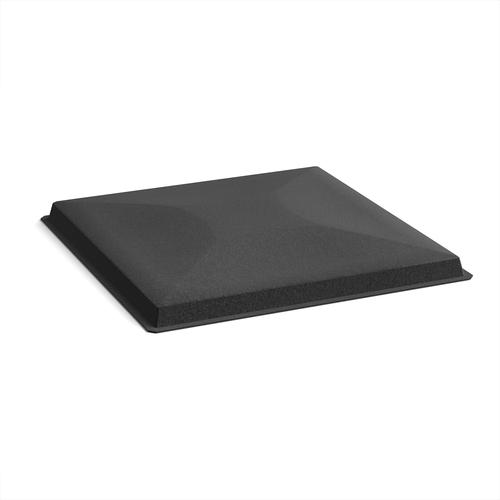 Acoustic felt fabric ceiling grid system tiles (10 pack) - black
