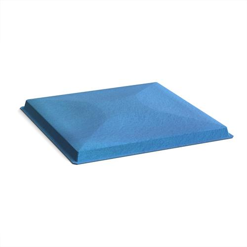 Acoustic felt fabric ceiling grid system tiles (10 pack) - blue