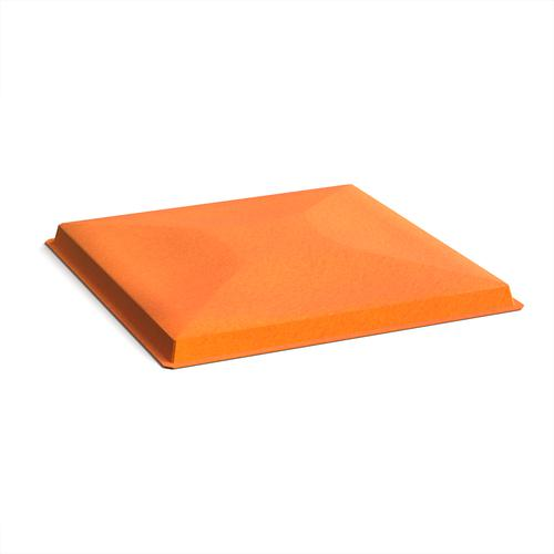 Acoustic felt fabric ceiling grid system tiles (10 pack) - orange