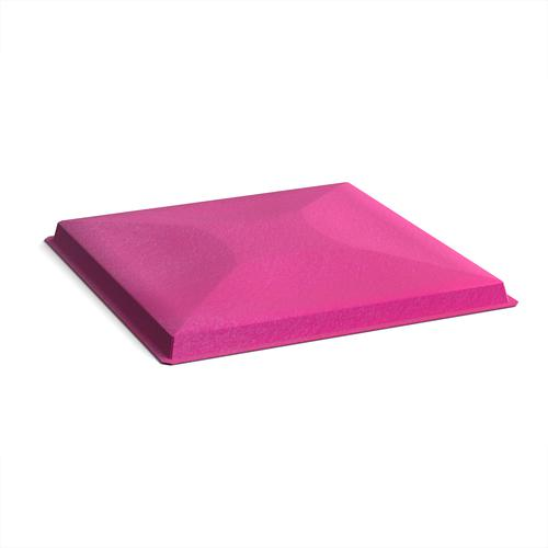 Acoustic felt fabric ceiling grid system tiles (10 pack) - pink