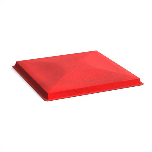 Acoustic felt fabric ceiling grid system tiles (10 pack) - red