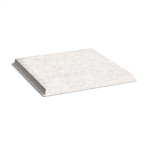 Acoustic felt fabric ceiling grid system tiles (10 pack) - white
