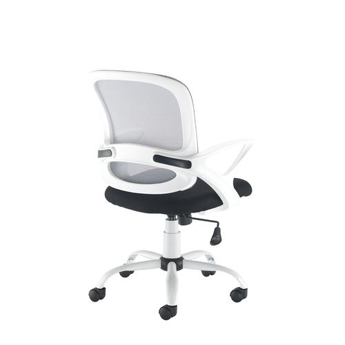 Tyler mesh back operator chair with white frame Office Chairs TYL-300T1