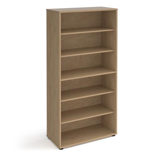 Universal bookcase 1715mm high with shelves - oak
