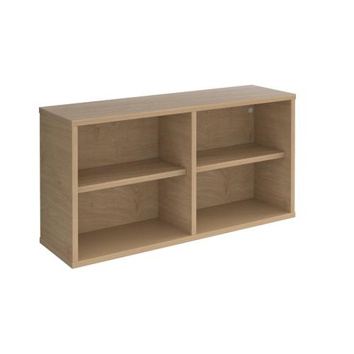 Universal box shelving unit 800mm wide - oak