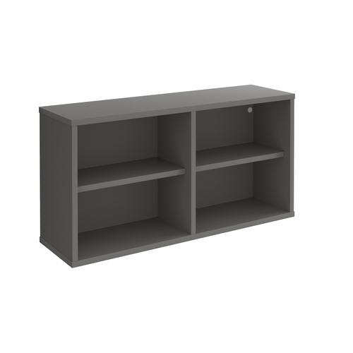 Universal box shelving unit 800mm wide - grey