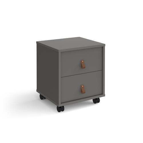 Universal mobile pedestal with drawers 400mm deep - grey with grey drawers