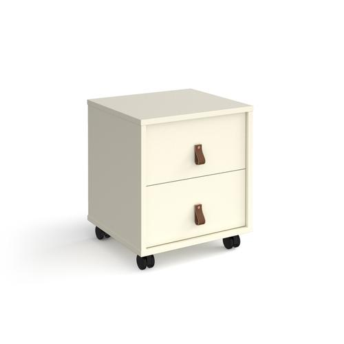 Universal mobile pedestal with drawers 400mm deep - white with white drawers