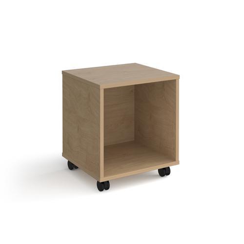 Universal mobile open pedestal 400mm deep - oak