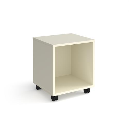 Universal mobile open pedestal 400mm deep - white