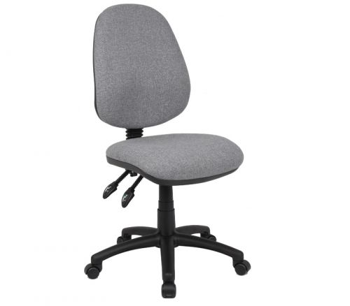Vantage 100 2 lever PCB operators chair with no arms - grey