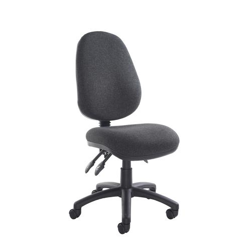 Vantage 200 3 lever asynchro operators chair with no arms - charcoal