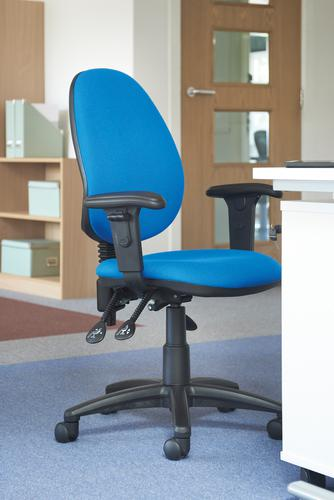 Jota high back asynchro operators chair with adjustable arms - Lombok Green Office Chairs VH22-000-YS159