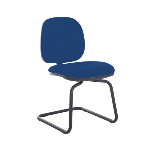 Jota fabric visitors chair with no arms - Curacao Blue