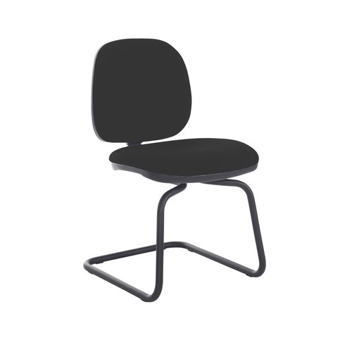 Jota fabric visitors chair with no arms - Havana Black