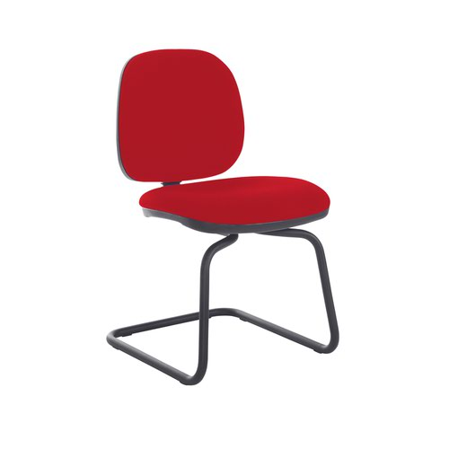 Jota fabric visitors chair with no arms - Panama Red