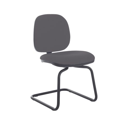 Jota fabric visitors chair with no arms - Blizzard Grey